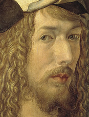 Detail, '1498, I painted it according to my figure. I was twenty-six years old Albrecht Dürer'