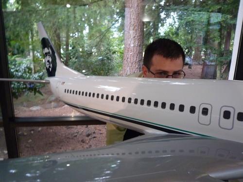Me and an Alaska 737 Model