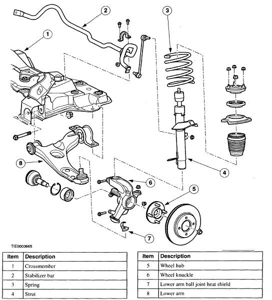 2001 Ford Focus Front Suspension Diagram, 2001, Free