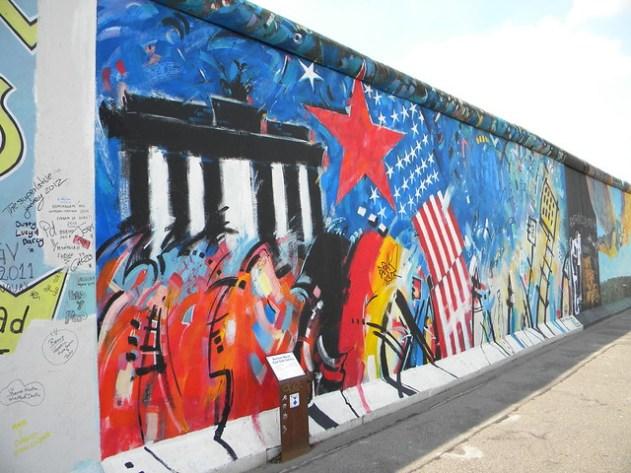 O Muro de Berlin - lado ocidental
