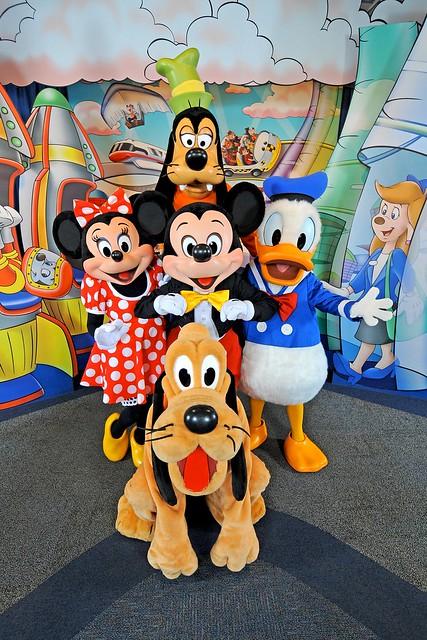 Mickey, Minnie, Goofy, Pluto & Donald