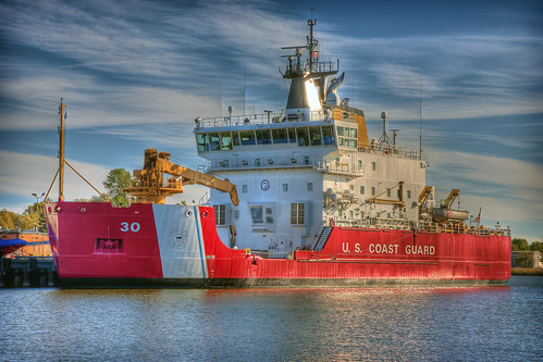 The USCGC Icebreaker Mackinaw at Cheboygan HDR