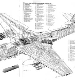hawker sea hawk fga mk4 cutaway drawing key csc hercules c 130 schematic c 130 hercules 3 view [ 1936 x 1428 Pixel ]