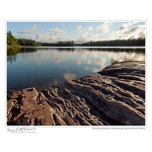 Shield Rock Shoreline, Massasauga Provincial Park, Ontario
