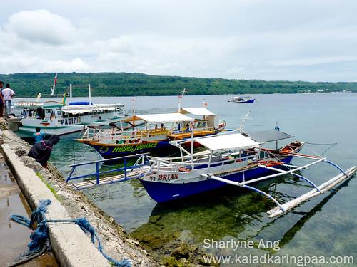 Boats in Talicud, Samal Island
