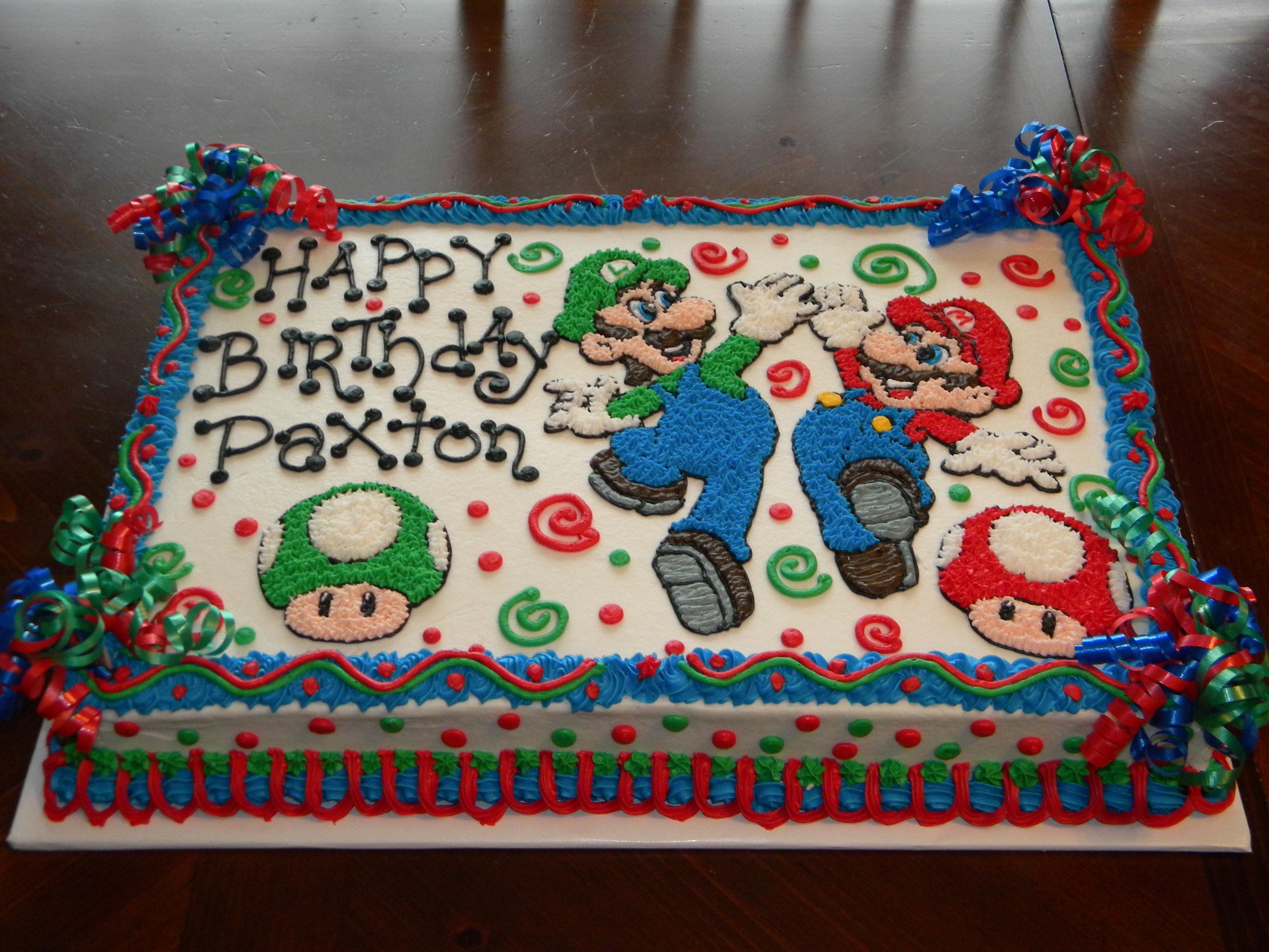 Homemade Super Mario Cake Ideas