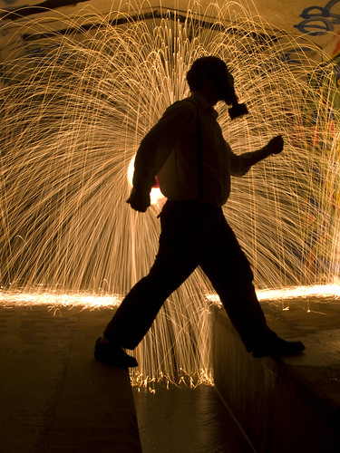 Occupational Health Hazard - Steel Wool / Light Painting may be harmful :)