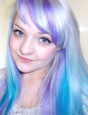 silver lilac and turquoise