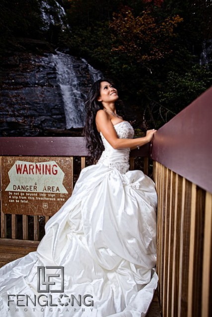 Khammy's Bridal Portrait Session | Anna Ruby Falls | Helen, GA Wedding Photographer