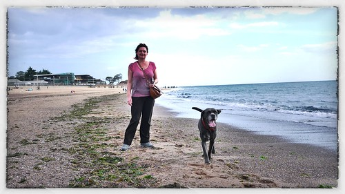 a girl, a dog & the beach by BagRat