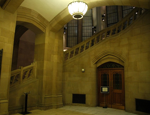 Suzzallo Library Staircase Railing Door Lamp Arches