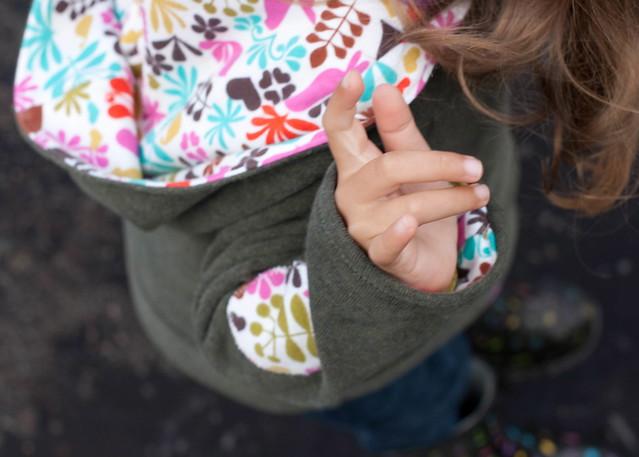 hoodie lining detail