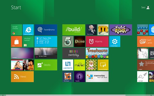 Windows 8 Preview Menu