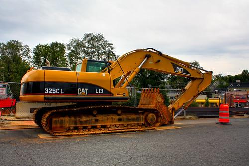 Caterpillar 325CL Excavator on Monroe Street