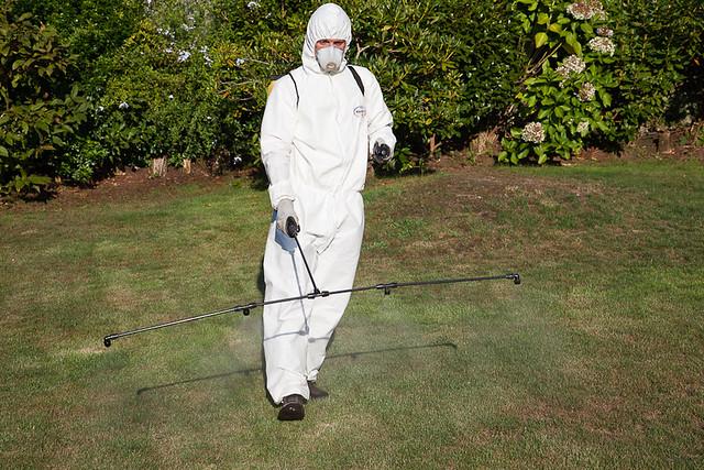 Applying pesticides