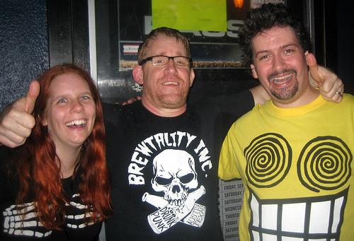 20110924 - ALL concert after Riot Fest - 1 - Scott Reynolds (ALL singer), Clint, Carolyn - IMG_3613