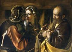 The Denial of Saint Peter, 1610, by Caravaggio