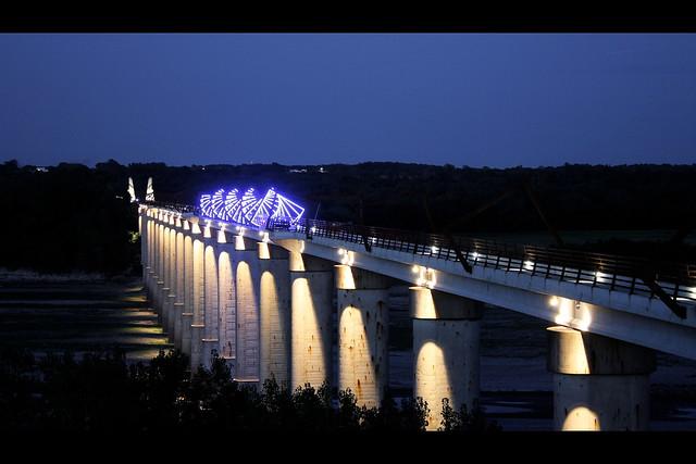 High Trestle Trail Bridge Night Flickr Photo Sharing