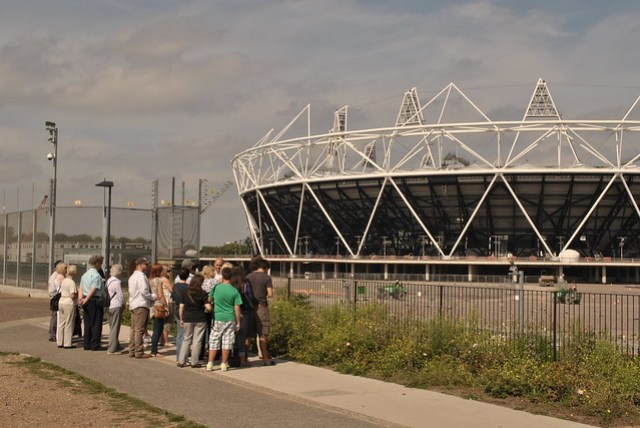 'And to your right....', Olympic Park, East London