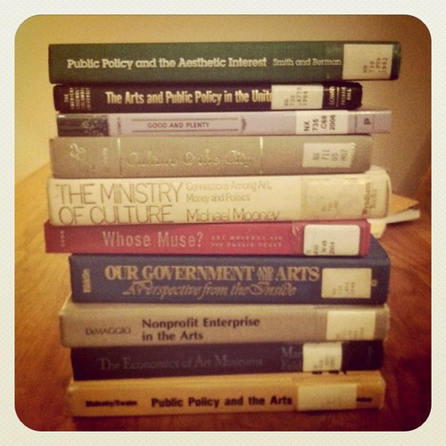 Just a few books to kick off my thesis reading.