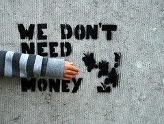 We don't need your money stencil