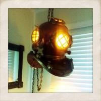 Copper & brass diving helmet lamp   Flickr - Photo Sharing!