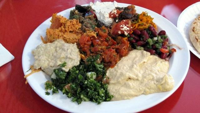 sampler platter (aka meze) at cafe agora
