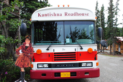 Sarah by the Kantishna Roadhouse Bus