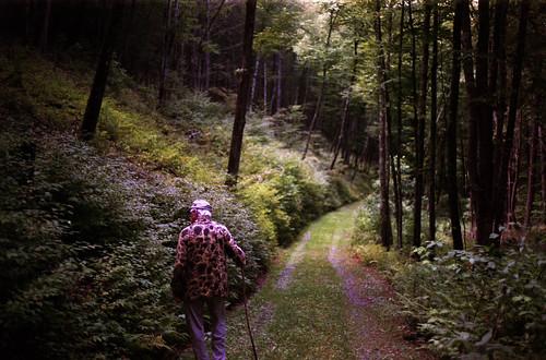 35mm film: grandpa walking
