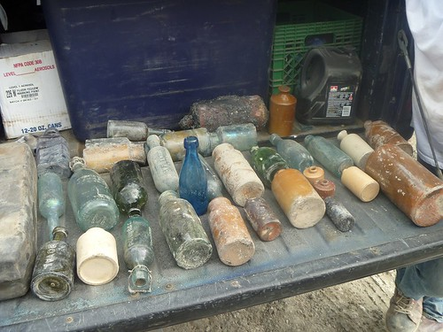 A Big Stash of Bottles Found by Toronto Excavators