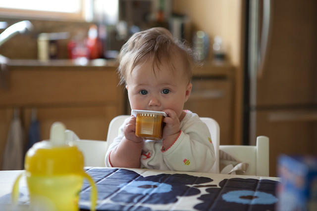Baby food tasting