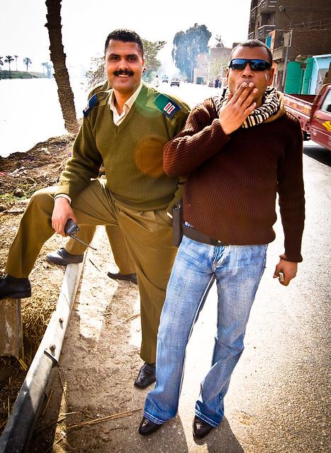 Police escort members