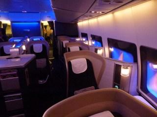 British Airways First Class Cabin Seats