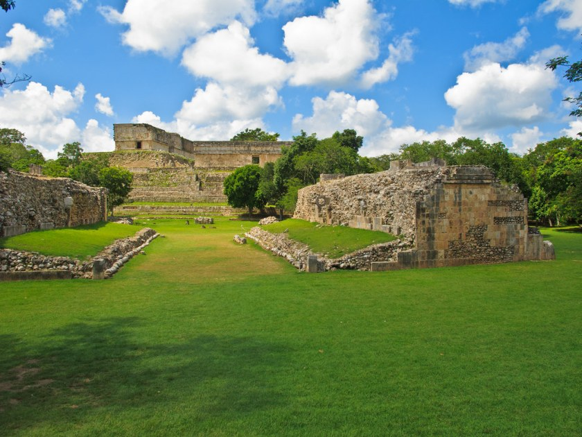 The ball court at Uxmal, dedicated in 901AD