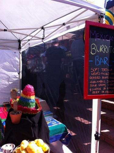 Burritos at the Subiaco Farmers Market