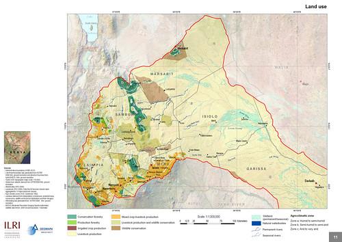 Land use in Ewaso Ng'iro Watershed