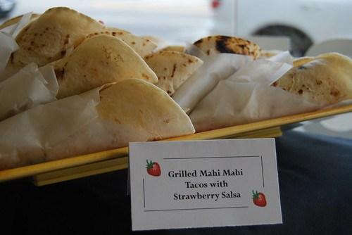 Grilled Mahi Mahi Tacos with Strawberry Salsa