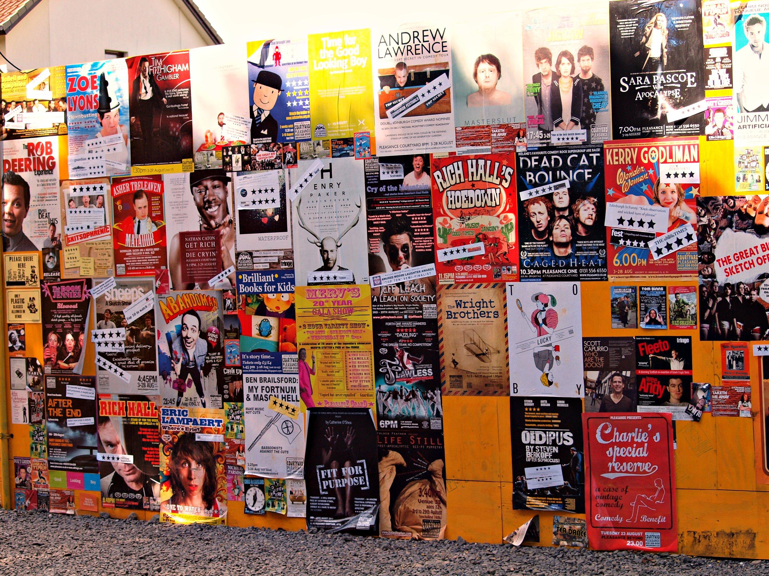 Posters for the fringe edinburgh festival 2011