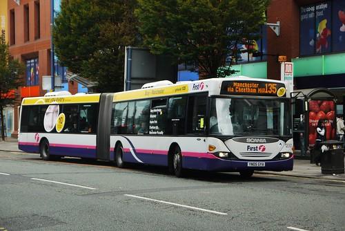 Scania N94UA OmniCity bendibus, YN05 GYA, First Manchester
