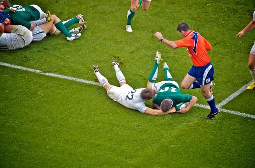 Jonathan Sexton's Try (Ireland v France)