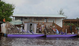 Our airboat for the tour of the Everglades swamps