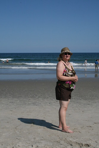 Dianne on Chincoteague beach