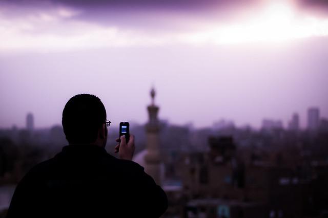 Photo of storm breaking over Cairo