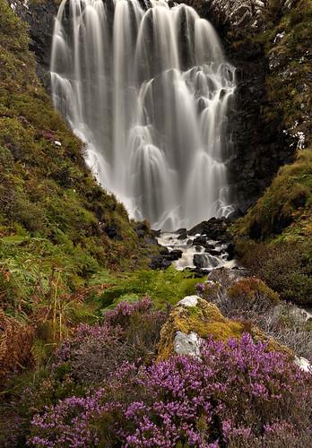 Clashnessie Waterfall in Autumn