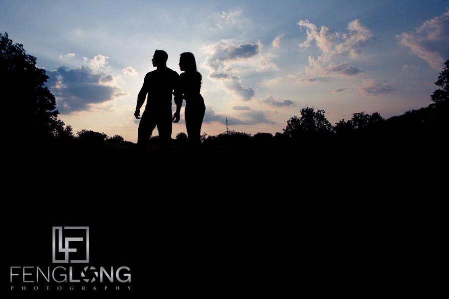 Silhouette Engagement Photo | Sophear & Jake | Freedom Park | Atlanta Engagement Photographer