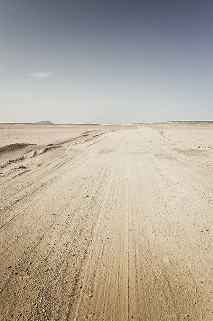 Roads in the Nubian desert