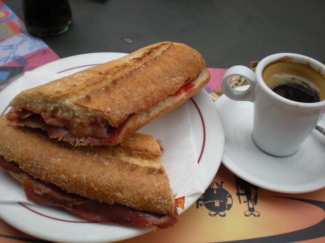 Iberico ham sandwich - Los Vikingos