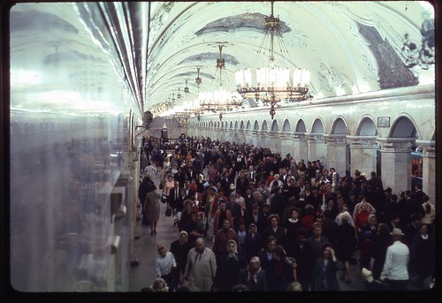 Underground Throngs, Moscow, 1969