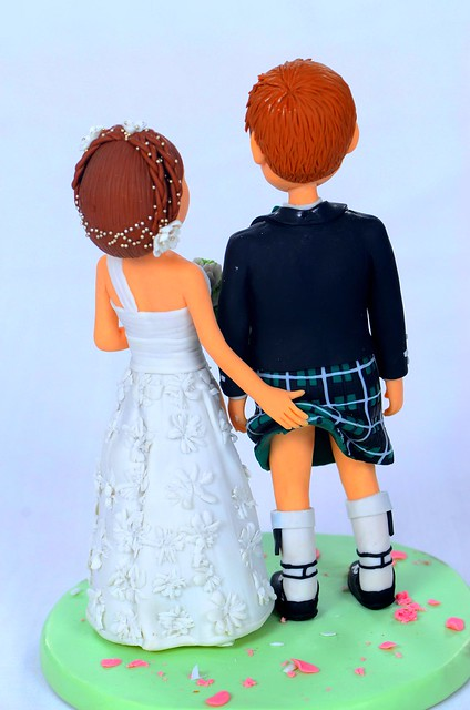 Scottish Wedding Cake Topper By Topperland Back View