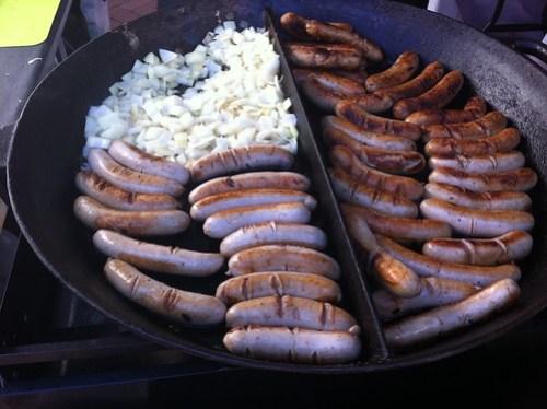 Bratwursts at the Subiaco Farmers Market